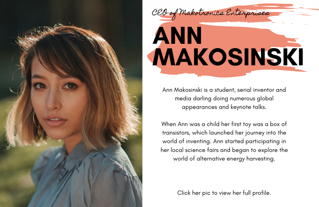 Ann Makosinski for International Women's Day